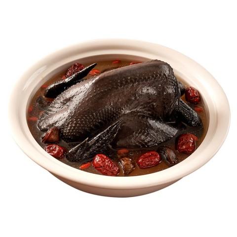 黑蒜烏骨雞 ( 買就送翡翠海鮮羹 )