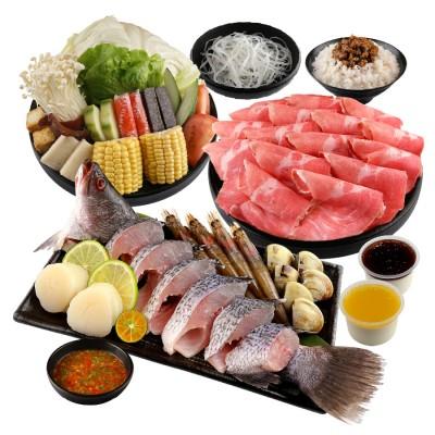 海陸雙拼鮮食鍋 (梅花豬)